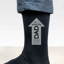 Personalised Awesome Dad Men's Socks P0710H49